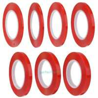 4/5/6/8/10/12/15mm x25m Transparent Double Sided Polyester Tape + Red MOPP Liner