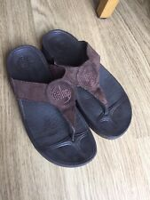 Fit Flop ( Wobble Board) Suede Chocolate Leather Shoes Size 5