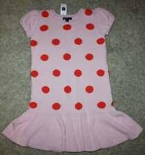 NWT Gap Kids Holiday Wonderland Pink Dot Dropwaist Sweater Dress M 8 Yrs.