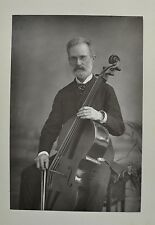 1890s Cabinet Card Portrait Photo Signor Piatti Cellist Composer W&D Downey