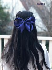 "6"" INK BLUE Hair Bows Jojo Style Large - Girls Teens Kids School Dance Party"