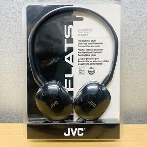 Brand New JVC FLATS Lightweight Foldable Headphones 3.5mm Jack HA-S160 (Black)