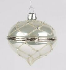 Silver Diamond Glass Trinket Bauble Diamante Christmas Tree Decoration Xmas Gift