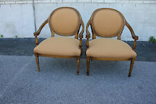 Gorgeous Pair of Italian Bedroom, Side, Accent Armchairs, New Upholstery