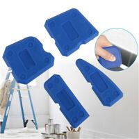 4pcs Brick Caulking Tool Kit Joint Sealant Silicone Grout Remover Scraper Blue ♫