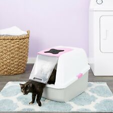 Catit Hooded Cat Litter Pan Litter Box - Pink and White - New - Hard to Find