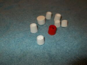 9 x Small Toothpaste sized screw caps approx craft supplies