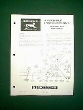 BOLENS TRACTOR THREE POINT HITCH MODEL 18086-01 ATTACHMENT ASSEMBLY MANUAL 5/72