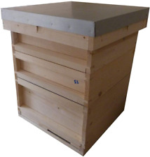 AGS National bee hive with brood box and two supers. Beekeeping beehive kit and
