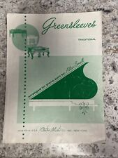 Greensleeves 1957 Vintage Sheet Music Claire Music Company Arranged Allen Small