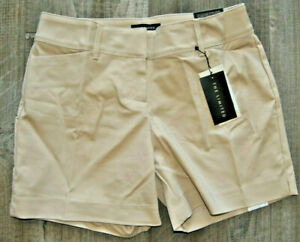 NWT Womens THE LIMITED Sand Khaki Tailored Flat Front Dress Shorts Sz 4