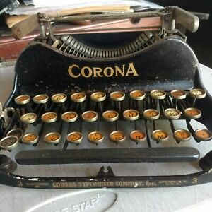 Vintage Corona No.3 Folding Typewriter 1917  Corona typewriter co.