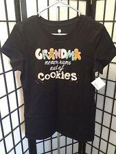 "Christmas Tee Shirt "" Grandma Never Runs out of Cookies"" Size Small Multi-NWT"