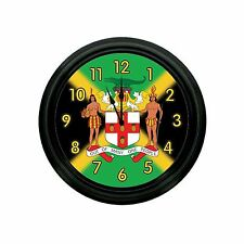 JAMAICA COATED OF ARMS WALL CLOCK