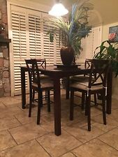 Dinning set with 6 high chairs - Fine Wood - $499