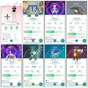 Pokémon Account Go Level 40 | 29 Shiny(Rare)| 241 Legendary(Rare)| 90,4*Pokemon