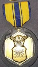 US Air Force Commendation Medal Ribbon Lapel Pin Set w/Presentation Case NOS NEW