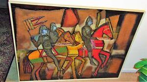 Large Signed 1969 Richard Brent Malone (1941-2004) Bahamas Abstract Painting