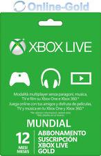 Xbox Live Gold Suscripción 12 Meses código Xbox One 360 1 año - Global Tarjeta