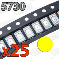 25x LED SMD5730 AMARILLO 60mA brillo smd 5730 yellow