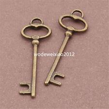 20pc retro bronze 12 * 39 mm Key Pendant Charm Beads accessories wholesale PL071