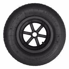 "BLACK SPOKED 16"" Pneumatic Wheelbarrow Wheel Tyre 4.80/4.00- 8"