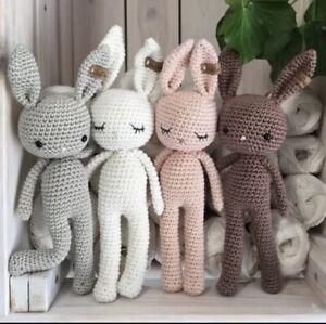 Brown Baby Bunny Crochet Amigurumi Toys