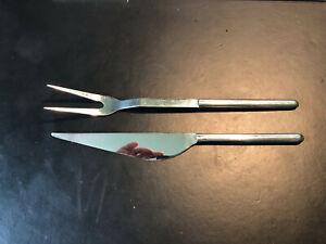Mono Oval Tranchierbesteck Messer + Gabel