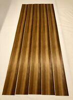 "Larch Fumed Wood Veneer. Rough Cut : 5 Sheets Select Grade( 51"" X 4"") ) 7 Sq Ft"