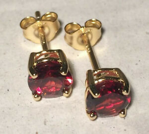 Earrings Natural Gems & Sapphires  5mm & 6mm Solid Sterling Silver Stamped S925