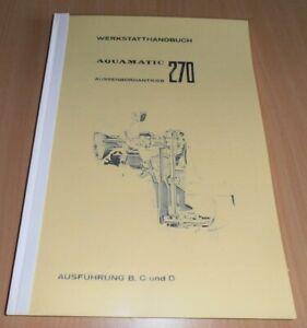 Volvo Penta Werkstatthandbuch Z-Antrieb AQ270