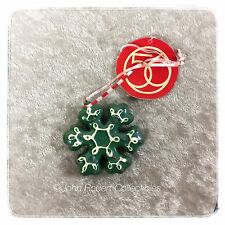 DEPT 56 CHRISTMAS SANTA'S SWEET SHOP GREEN SNOWFLAKE MINI ORNAMENT
