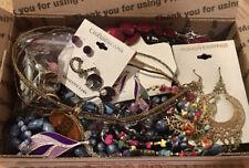 NWT WEARABLE VInTAGE Mod 1-2+ LB Lot Costume Jewelry Earrings Necklace Bracelet