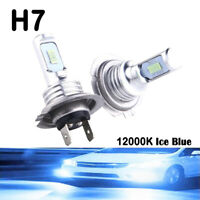 2x H7 LED Lamps For Cars Headlight Bulbs Fog Light CREE  Lamp Ice Blue