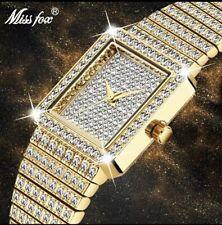 Ladies Diamond Watch 18k Gold Plated Brand New Very Posh Ladies Watch Designer