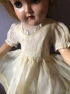14 Inch Toni Yellow Mint Dress Snaps In Back 1940 NO Doll  See Through
