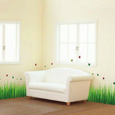 Nature Insect Green Grass Removable Vinyl Art Wall Sticker Decal Home Decoration