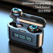 Écouteur Bluetooth sans Fil Stéréo avec Micro LED Pour iPhone Samsung Huawei