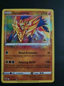 🔥🔥Pokemon Card ZAMAZENTA Amazing Rare 102/185 VIVID VOLTAGE *MINT*🔥🔥