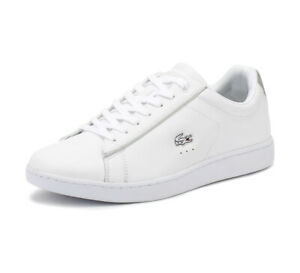 Lacoste Womens White Grey Carnaby Evo 217 2 SPW Trainers