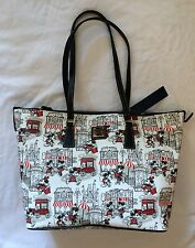 Disney Parks Dooney & Bourke Mickey and Minnie Mouse Downtown Large Tote Purse