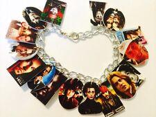 Johnny Depp Characters Bracelet HANDMADE PLASTIC CHARMS Tim Burton Movies