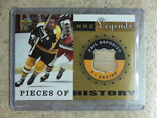 01-02 UD NHL Legends A Pieces Of History Sticks #PH-PE PHIL ESPOSITO