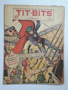 CAPTAIN HIDDEN FACE! - TIT-BITS #2228 (1952) -ORIG. IN SPANISH- ARGENTINA