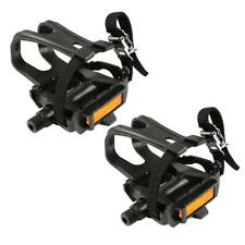 Un3f 1 Pair Mountain Road Bike Fixed Gear Bicycle Pedals With Toe Clips Straps