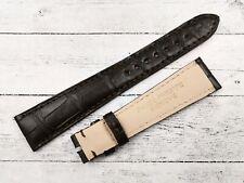 Patek Philippe Strap 19mm Elegante Marrone Scuro Vero Coccodrillo Fatto a Mano