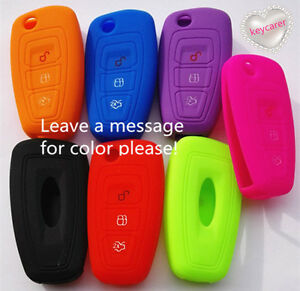 SILICONE CAR FLIP KEY COVER fits FORD RANGER FOCUS FIESTA MONDEO 2012 2013