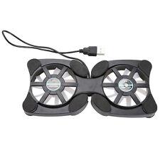 USB Mini Octopus Laptop Fan Cooler Cooling Pad Folding Coller Fan Black HCXM