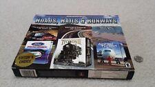 NEW PC CD-ROM Legends Series (3 pack) -- Roads, Rails & Runways, SEALED