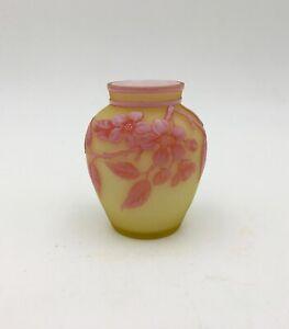 "RARE Thomas Webb Three Color English CAMEO  2.5"" Miniature Art Glass Vase"
